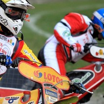 Wyścig XIII - Magnus Zetterström (żółty) i Grzegorz Walasek (niebieski)