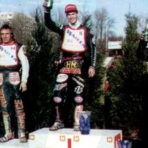 Podium zwycięzców - Vaclav Milik (II miejsce), Tomasz Gollob (I miejsce) i Jacek Gomólski (III miejsce)