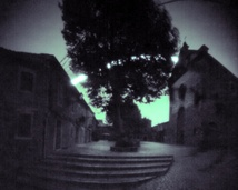 Solargraphy taken in Valldemossa during the exhibition. Exposition time: 7 days.
