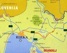 mapa z wyszczegolnionym miastem