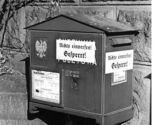 Zamknięte skrzynki na listy Poczty Polskiej, Poznań, październik 1939.