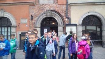 Gimnazjaliści w Muzeum Literatury w Warszawie