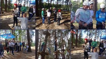 Park linowy w Spychowie-wycieczka gimnazjalistów na Mazury