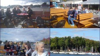 Statkiem po Jeziorze Śniadrwy-wycieczka gimnazjalistów na Mazury