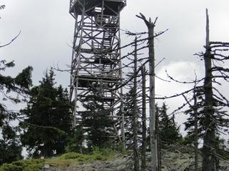 Wieża widokowa na Trójmorskim Wierchu