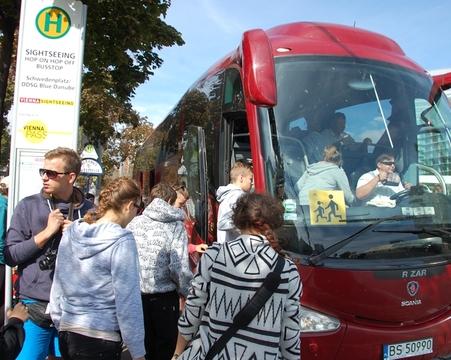 Wycieczka wychowanków Domu Dziecka w Pawłówce do Wiednia