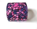 mozaikowa fioletowa brznsoletka