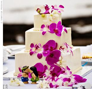 dekoracje ślubne - fuksja