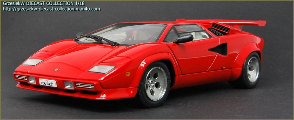 lamborghini countach lp5000s red autoart no 74531 diecast collection ca. Black Bedroom Furniture Sets. Home Design Ideas