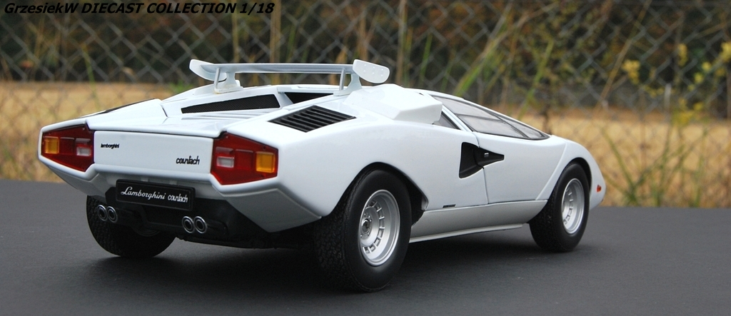 Lamborghini Countach Lp400 With Roof Wing White Kyosho