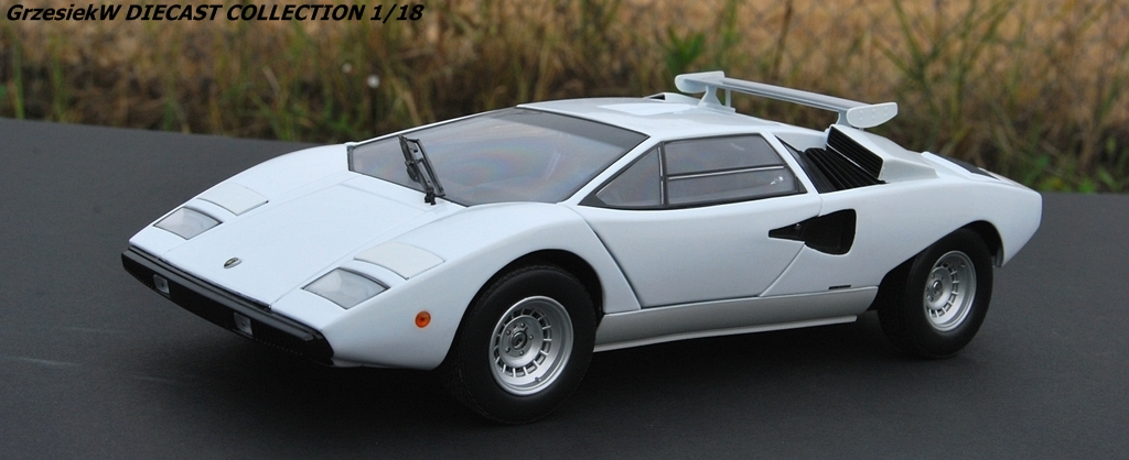 lamborghini countach lp400 with roof wing white kyosho no 8324w diecast collection cars. Black Bedroom Furniture Sets. Home Design Ideas