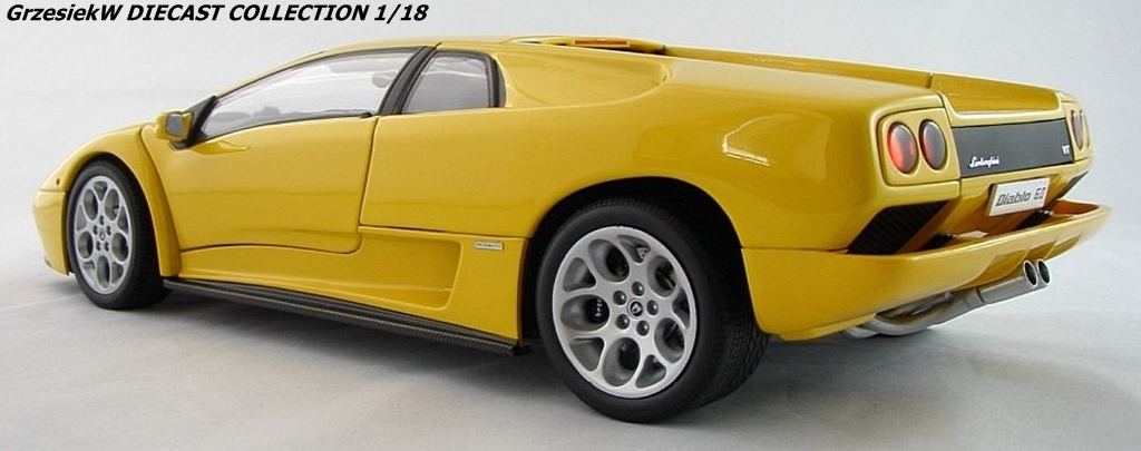 lamborghini diablo 6 0 yellow autoart no 74526 diecast collection cars grzesiekw. Black Bedroom Furniture Sets. Home Design Ideas