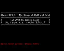 Paper RPG 2 - odświeżony ekran tytułowy