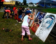 warsztaty action painting