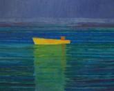 Lódź rybacka, akryl 80x100