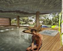 projekt wnętrza basenu hotelowego