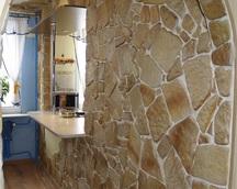 Ozdobny kamień dekoracyjny,typ naturalny, kolor: 14b fuga biała