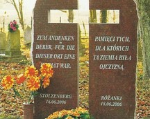 Pomnik pamięci byłych mieszkańców Różanek