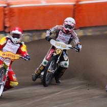 Wyścig I - Magnus Zetterström (czerwony), Grzegorz Zengota (biały) i Tai Woffinden (niebieski)