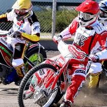 Wyścig I - Tomasz Jędrzejak (żółty), Tomasz Gapiński (czerwony) oraz zasłonięci Sebastian Ułamek (niebieski) i Adrian Miedziński (biały)