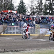 Start do wyścigu XX - od lewej: Tomasz Jędrzejak, Krzysztof Buczkowski, Przemysław Pawlicki, Robert Kościecha