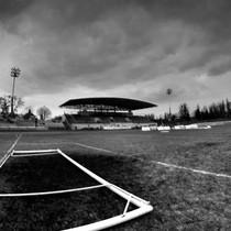 Trybuny stadionu Polonii z nieco innej perspektywy