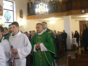Przywitanie relikwii św. Faustyny w parafii