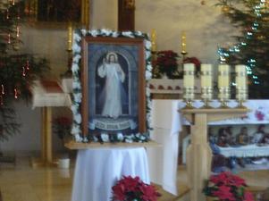 Rozpoczęcie peregrynacji obrazu Jezusa Miłosiernego w parafii - 10.01.2016r