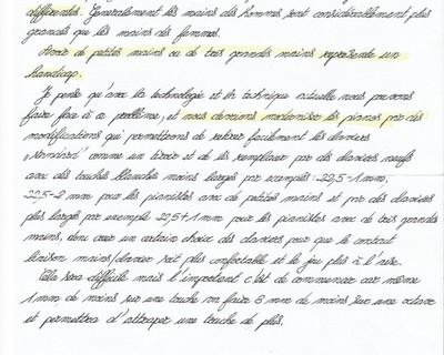 Schreiben an die Leitung der Ecole Normale A. Cortot in Paris