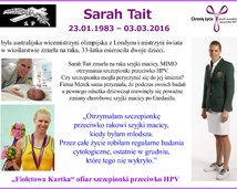 1. Sarah Tait, wicemistrzyni olimpijska zmarła na raka szyjki macicy (23.01.1983 – 03.03.2016)