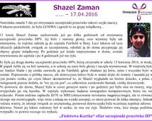 4. Shazel Zaman - smierc po szczepionce przeciwko HPV