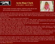 12. Aysia Hope Clark (11.05.2015 - 04.07.2015)