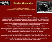 47. Brodie Alexander – zmarł w 32 tygodniu ciąży po przyjęciu przez matkę szczepionki TDaP