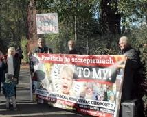 Protest w obronie dr Huberta Czerniaka (16.10.2019)