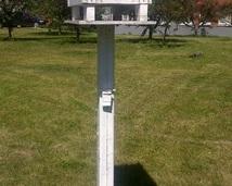 Stacja meteorologiczna z aparatem solarygraficznym.