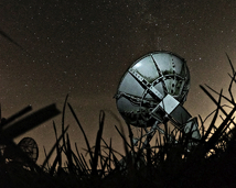 Solar radiotelescope at night. October 2019.