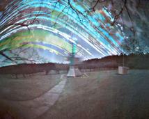 Solar radiotelescope. Exposition: 5 months.