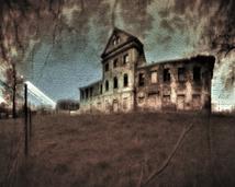 Leśna, ruiny pałacyku.