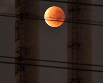 28 Septembrer 2015. Total lunar eclipse observed from Prague.