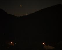 Venus and Mercury setting.