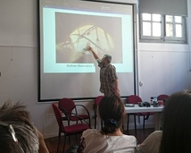 Maciek is giviing a talk about the solargraphy and analemma.
