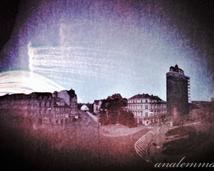 Lubań, widok z okna Urzędu Miejskiego.