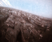Widok z wieży kościoła garnizonowego pw. św. Elżbiety.