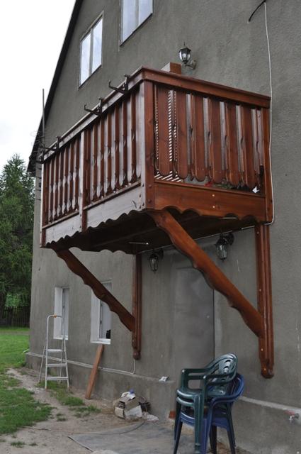 balkony schody kuchnie meble z drewna