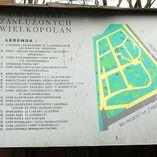 Tablica z planem cmentarza