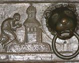 Scena przedstawiająca modlitwę św. Wojciecha