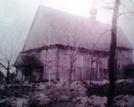 Nieistniejący kościół pw. św. Jana Chrzciciela w Bielsku, zdjęcie wykonane w czasie przygotowań do budowy nowego kościoła.