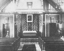 Wnętrze kościoła z okresu II Wojny Św.