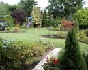 Ogród po zmianach. Widok z tarasu.