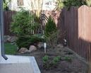 Ogród od razu po zmianach.